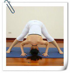 三角式前彎(瑜珈動作圖解-瑜珈教學11-腿部曲線)