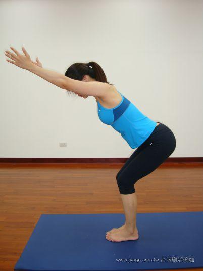 瑜珈教學28-腿部曲線-椅子式