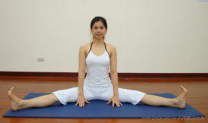 劈腿側伸展(瑜珈動作圖解-瑜珈教學15-腰臀曲線雕塑)