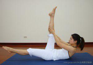 瑜珈教學26-腹、腿部曲線-直腿交叉式