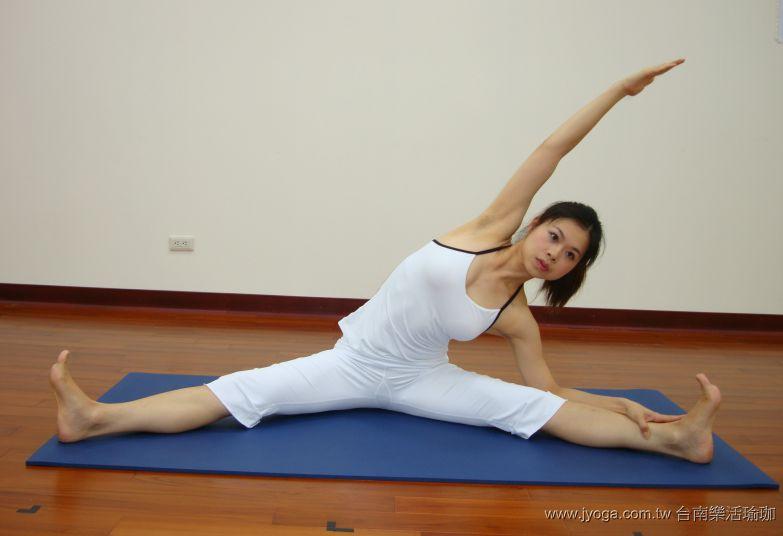 瑜珈教學15-腰臀曲線雕塑-劈腿側伸展