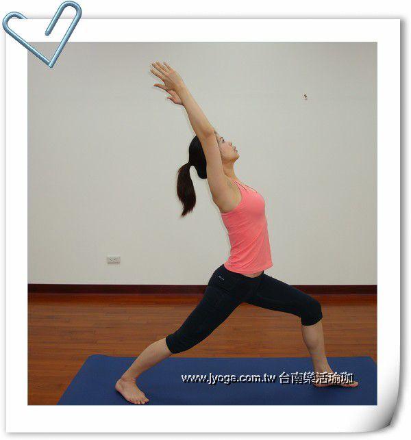 瑜珈教学42-手,腿雕塑-英雄式一图片