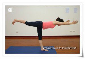 瑜珈教學47-腿部雕塑-英雄式三