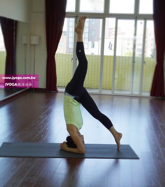 台南JYOGA樂活瑜珈-瑜珈教學-倒立式變化-Headstand